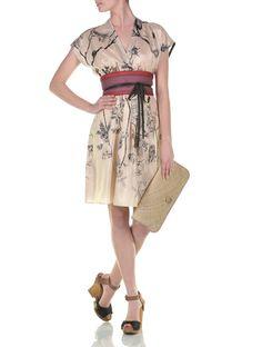 Kimono styling silk dress - Hoss Intropia - Spring Summer 2012