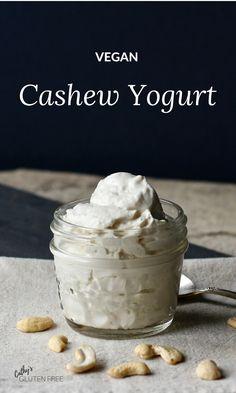 Yogurt Cashew yogurt is one of my all time favourite breakfasts or snacks!Cashew yogurt is one of my all time favourite breakfasts or snacks! Yogurt Recipes, Raw Food Recipes, Dessert Recipes, Raw Desserts, Keto Recipes, Cashew Yogurt, Paleo Yogurt, Siggis Yogurt, Yogurt Popsicles