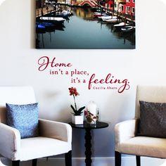 Home is a Feeling (Script Version) (wall decal from WallWritten.com).