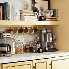 creare un angolo caffè in casa