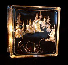 lighted glass blocks | Product Categories Glass Block Lights — Kozy Kupboard
