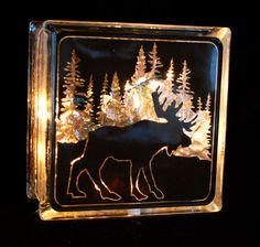 lighted glass blocks | Product Categories Glass Block Lights — Kozy Kupboard