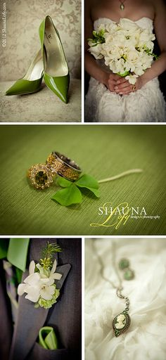 St. Patrick's Day Irish Wedding Details (Styled Wedding) by Shauna Lofy Design & Photography www.ShaunaLofy.com  Flowers by Uniquely Chic Florist & Boutique www.uniquelychicflorist.com/  Wedding Cake by Anamie's Sweets www.anamiessweets.com