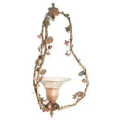 French Floral Light Fixture
