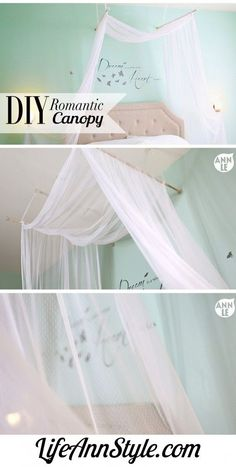 Bedroom Diy Romantic Bed Canopy Beautiful And Inspiring Four . My New Room, My Room, Girl Room, Girls Bedroom, Bedroom Decor, Bedrooms, Bedroom Ideas, Master Bedroom, Decoration Shabby