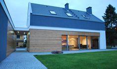 Building Concept, Building Design, Building A House, Modern Barn House, Modern House Design, Cottage Extension, Gable House, Exterior Rendering, Architect House