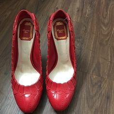 Christian Dior I wore only one time. It is excellent condition. It is too high for me. Christian Dior Shoes Heels