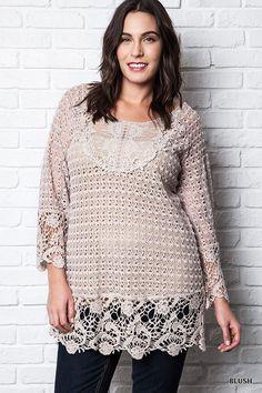 Crochet Tunic Top - Curvy
