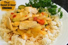 Thai Sweet and Sour Chicken for a great dinner tonight!