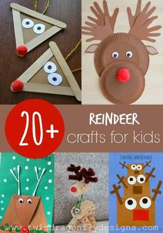 20+ Reindeer Crafts for Kids » Dragonfly Designs