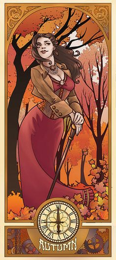 Steampunk Autumn by Dani Kaulakis - Steampunk Autumn Digital Art - Steampunk Autumn Fine Art Prints and Posters for Sale
