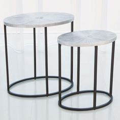 Studio A Striated Nickel Accent Table #laylagrayce