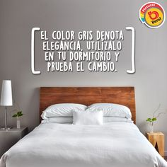 Elegancia en tu dormitorio, utiliza tonalidades en gris #BerelTip #decoracion #Hogar