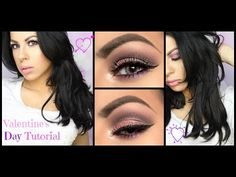 Pink and Purple Eyeshadow Tutorial for Valentine's Day + Full Face. - YouTube