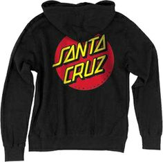 santa cruz lifeguard hoodie | Santa Cruz Classic Dot Hooded Pullover Sweatshirt Black - Men's