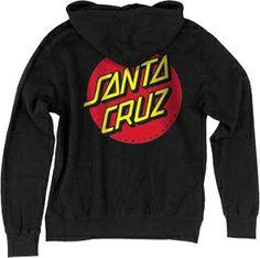 santa cruz lifeguard hoodie | Santa Cruz Classic Dot Hooded Pullover Sweatshirt Black - Men's