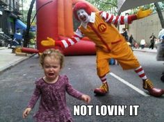 This little girl knows what's up. Fucking clowns......