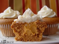 pumpkin mousse cupcakes