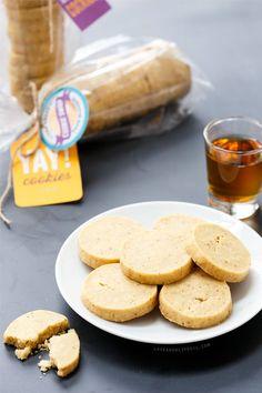 Bourbon, Brown Butter, and Vanilla Bean Shortbread Cookies