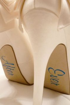 bride-shoe-stickers something blue super cute <3