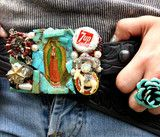 belt buckle from Junk Gyspy made by Bone Dust Cowgirl!