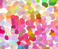 Colorful Pointillism Print (Large Dot) fabric by theartwerks on Spoonflower - custom fabric