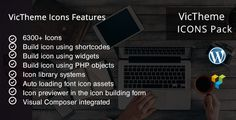 VicTheme Icons Visualcomposer Addon by VicTheme  VT Icons is a collection of icons for WordPress works as an Add-ons for Visual Composer. There are 6300 plus of icons included in the pack. Available features 1. 6300  icons 2. Build icon using shortcodes 3. build icon using wi