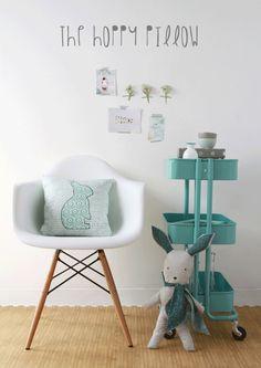 The Hoppy Pillow / A Tutorial with Littlest - Art Gallery Fabrics-The Creative Blog
