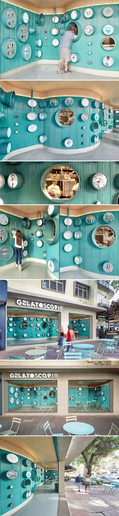 Gelatoscopio ice cream shop by Esrawe and Cadena, Mexico