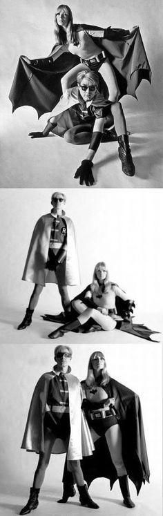 Nico & Andy Warhol as Batman & Robin for Esquire magazine, 1967