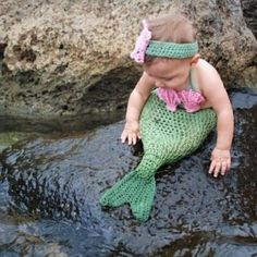 Love these chubby baby mermaids, I wonder if I can pull this sort of thing off with my 3 and 5 year olds for some memorable beach photos?