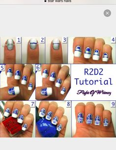 This Star Wars edition: 25 Ultra Geeky Nail Art Ideas Uñas Star Wars, Star Wars Nails, Nails Decoradas, Uñas Diy, Ten Nails, Nail Design Spring, Disney Nails, Super Nails, Nail Tutorials