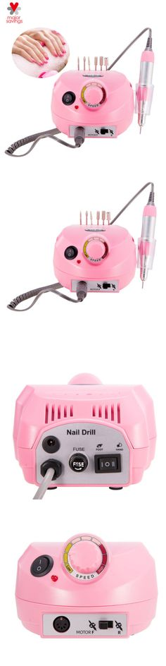 Electric Files and Tools: Nail Drill File Grinder Machine Bits Kit Manicure Pedicure Professional Nail Art -> BUY IT NOW ONLY: $32.89 on eBay!