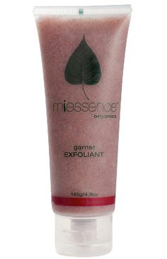 Miessence Certified Organic Garnet Exfoliant with citrus for normal skin - effectively clears dead, dry surface skin.
