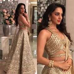 Top 15 sizzling pictures of Bollywood hot actress Kiara advani. Indian Wedding Outfits, Bridal Outfits, Indian Outfits, Indian Engagement Outfit, Engagement Dresses, Indian Clothes, Wedding Dresses, Lehenga Designs, Saree Blouse Designs