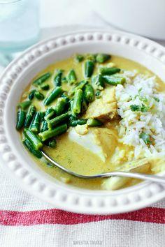 Curry z fasolką i rybą