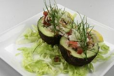 Avocado med krabbefyld