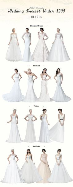#Hebeos wedding dresses 2017 autumn sale! Cheap wedding dresses for all sizes. Find your unique style