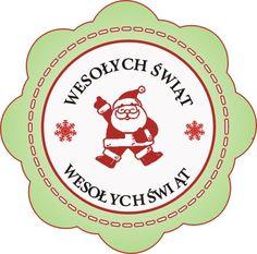 Etykieta Wesołych Świąt z Mikołajem