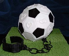 SOCCER cake (Ball and Chain) by Wild Cakes, via Flickr