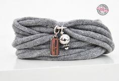 Bestseller-Armband grau Charm & Perle Geschenkidee von Andrea Traub - FASHION  ARMBÄNDER auf DaWanda.com