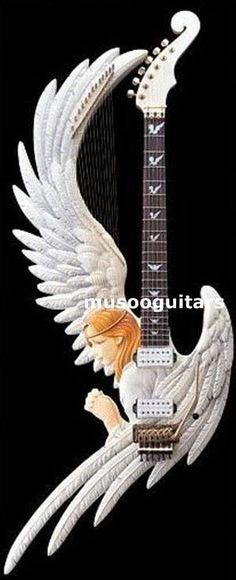 Hand Carved Custom Electric Guitar with New Angel Design