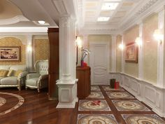 refined interior of hallway