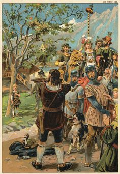 Mulhouse, statue of William Tell holding an arrow, not a crossbow. Notice the small size of the children's head compared to Tell's. Napoleon, Medieval Crossbow, William Tell, Landsknecht, Amazing Race, The Villain, World History, Folklore, Fantasy Art