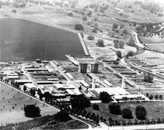 Vintage San Fernando Valley - Adohr Farms, Woodland Hills, CA aerial view, circa 1940's (in 1941, Girard was renamed Woodland Hills)
