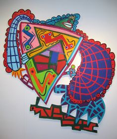 elizabeth murray. love the colors. the patterns. the way it moves, in a sense.