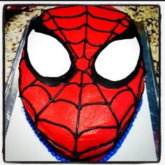 Spiderman birthday cake...
