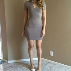 Taupe Keyhole Bodycon Dress Taupe Keyhole Bodycon Dress. Brand new. Never worn. Available in S-M-L. Model is wearing a small, for reference. 87% polyester. 13% spandex. No Paypal. No trades. 10% discount on all bundles made with the bundle feature. No offers will be considered unless you use the make me an offer feature.     Please follow  Instagram: BossyJoc3y  Blog: www.bossyjocey.com Dresses Mini