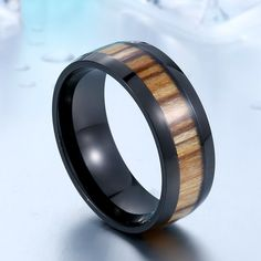 Cool Man Woodiness For Man Stainless Steel Men Fashion High Polished Wedding Ring Irish Engagement Rings, Irish Wedding Rings, Engagement Ring Settings, Tiny Stud Earrings, Simple Earrings, Silver Hoop Earrings, Fashion Rings, Men Fashion, Fashion Details
