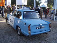 1963 Triumph Herald Saloon 1200 police car by jane_sanders, via Flickr